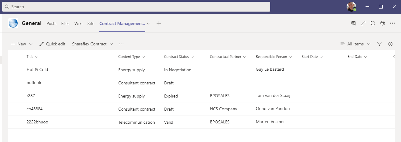Shareflex support for Microsoft Teams - List of vendors