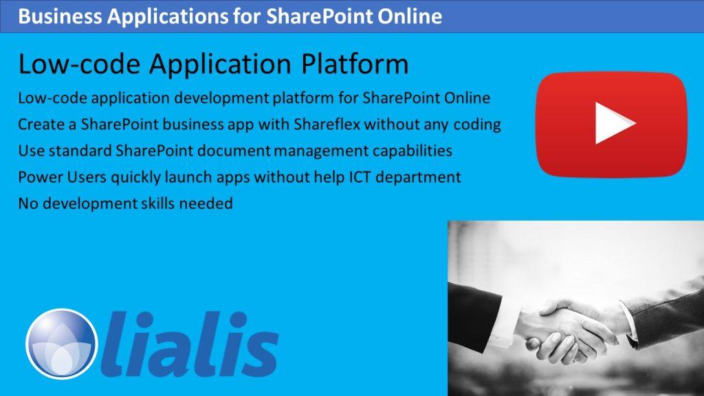 Low code application platform Shareflex