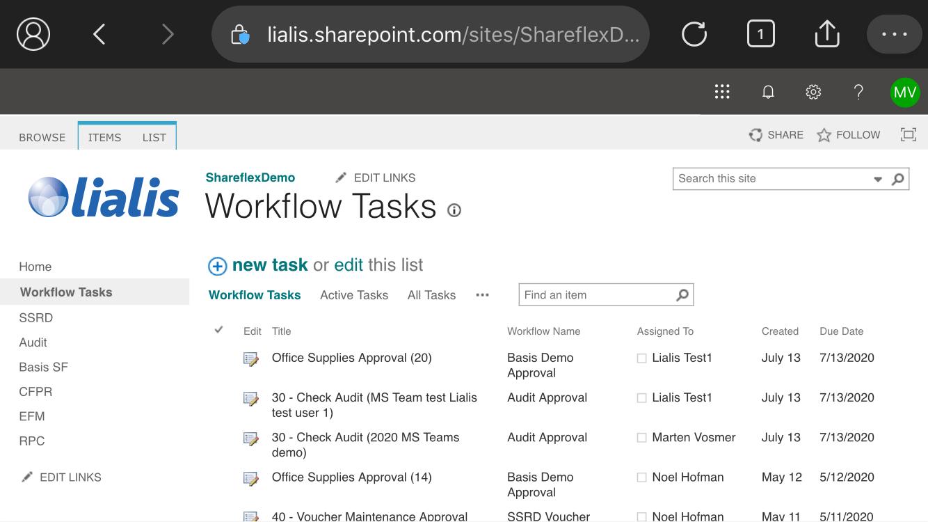 workflow app iphone tasks list