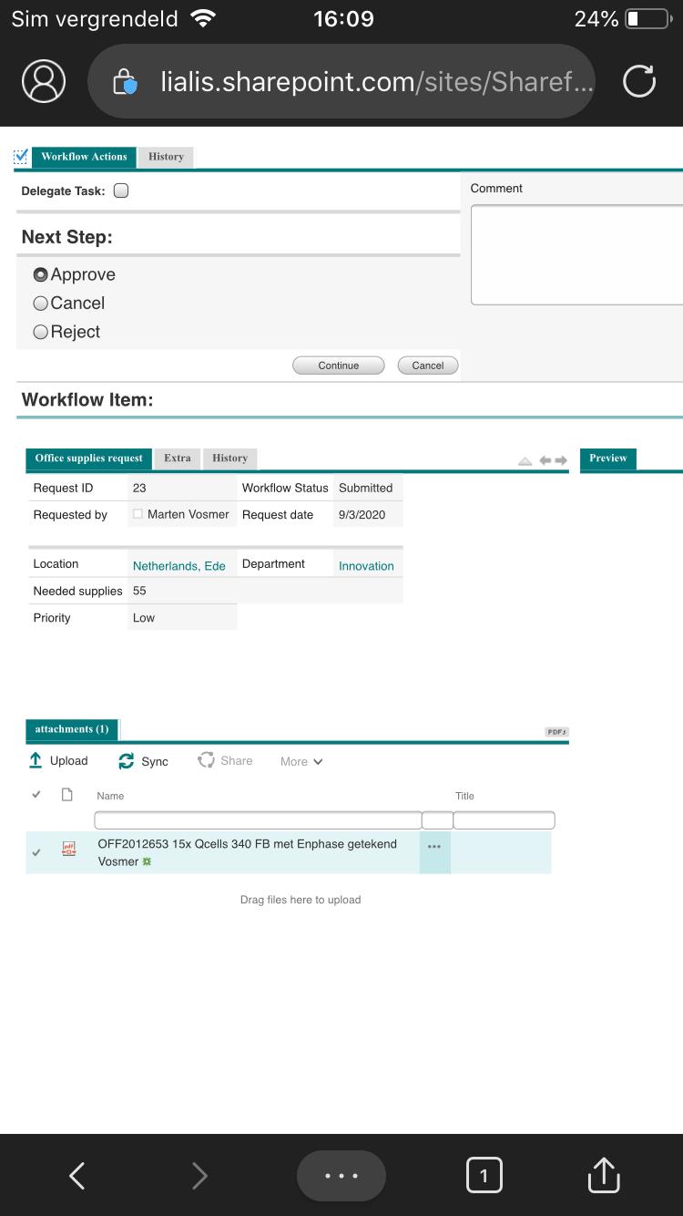 workflow app iphone task approval