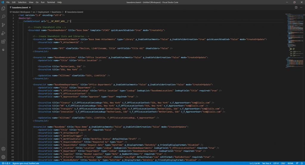 SharePoint Automation: Shareflex BEEML coding