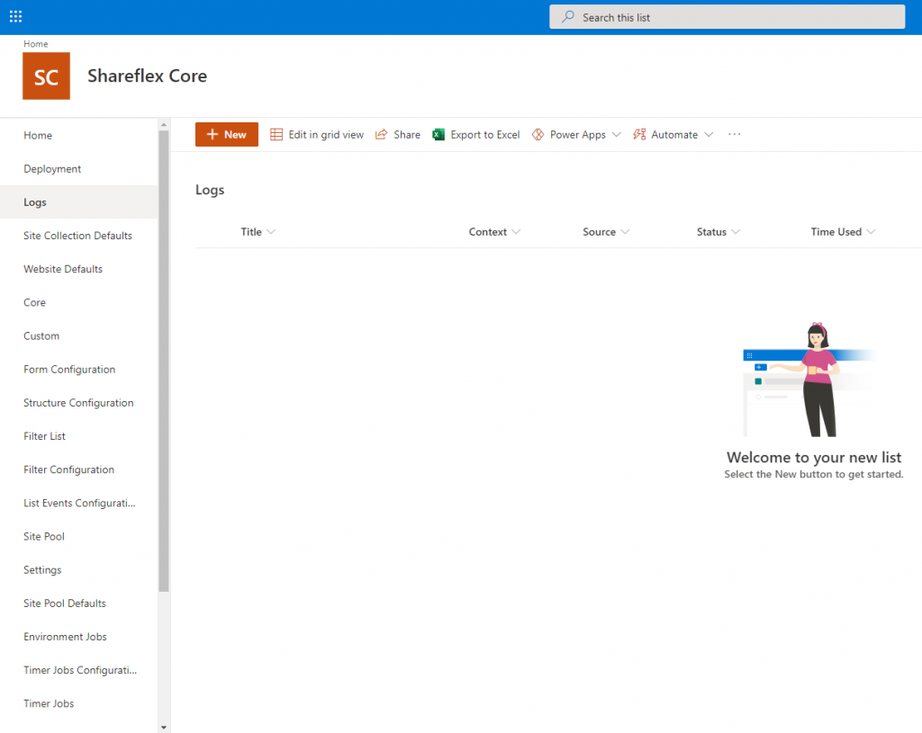 SharePoint Automation Install the Shareflex app